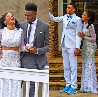 dress beautiful two piece dress set long prom dress prom dress sequin prom dress shoes prom menswear