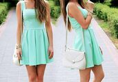 dress,tiffany blue,pretty,french,turquoise,pleated dress,beautiful