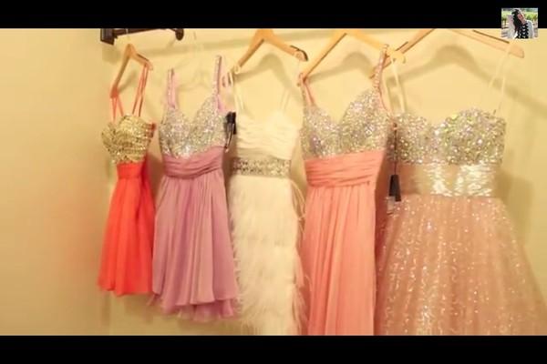 dress prom dress pink dress dress glitter dress prom