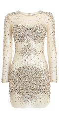 JOVANI - Nude Sequin Dress hire at Girl Meets Dress Cocktail Dress, Designer Dresses and Prom Dresses rental