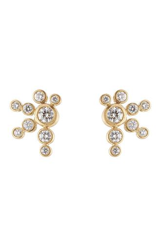diamonds earrings gold earrings gold jewels