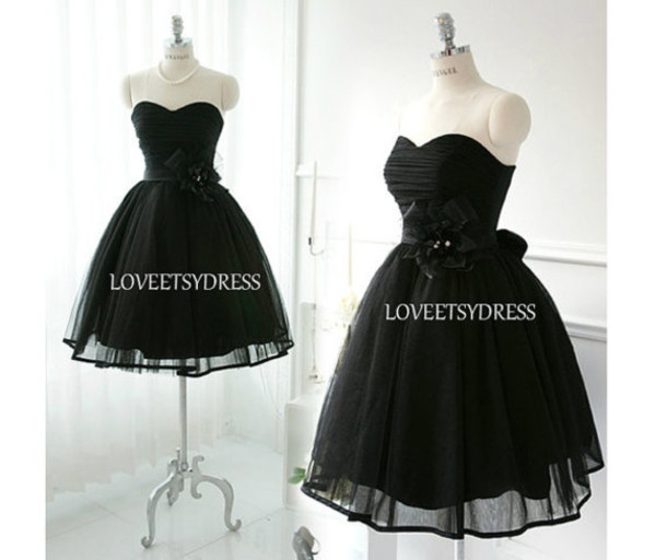 Short lovely tulle homecoming dress little black by OnlyuDress