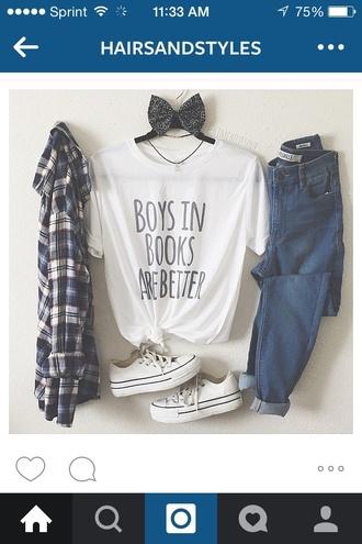 blouse plaid shirt plaid blue black white boys in books are better