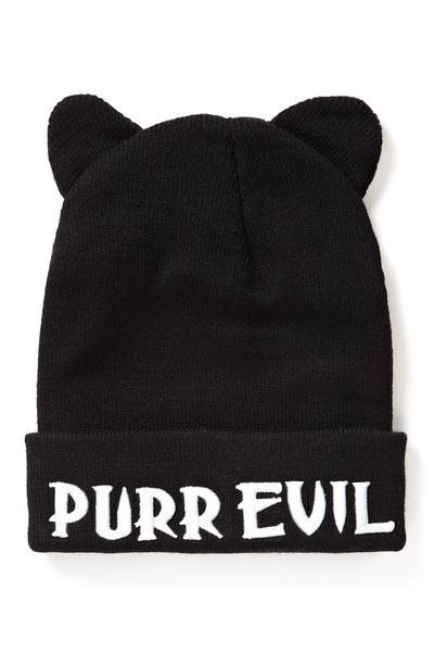 Purr Evil I Can't Hear Ya Beanie [B]
