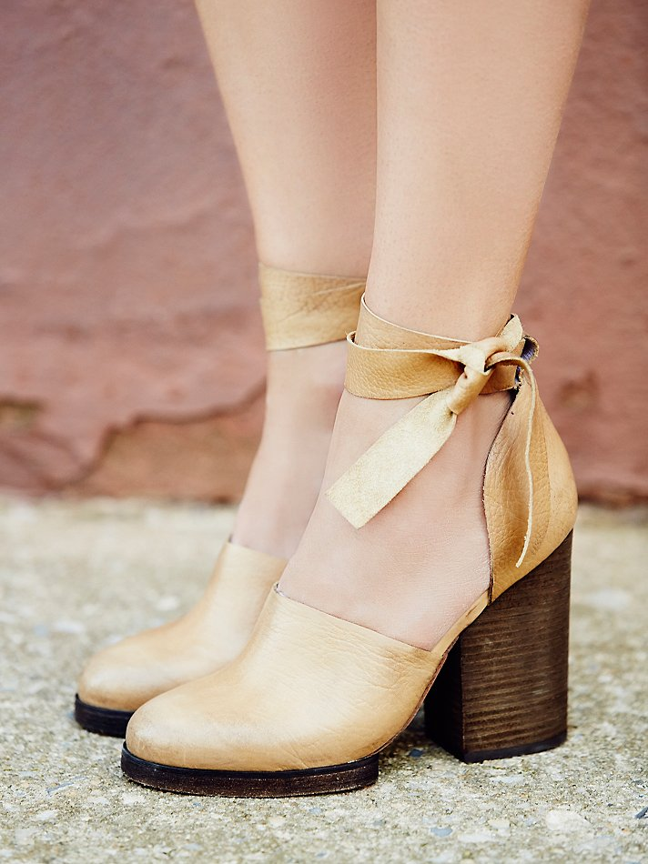 Free people cora wrap heel