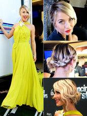dress,julianne hough,yellow,yellow dress,jenny packham