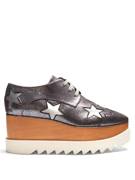 Stella McCartney glitter shoes platform shoes lace grey