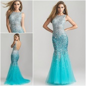 dress,prom dress pretty cute lovely blue silver sparkles,light blue,sequins,silver and blue mermaid ttail prom dress