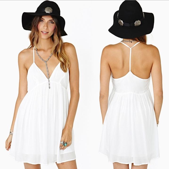 Deep v sexy dress d