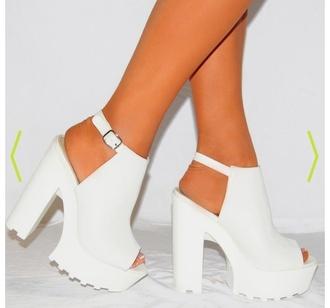 shoes white heels heels white