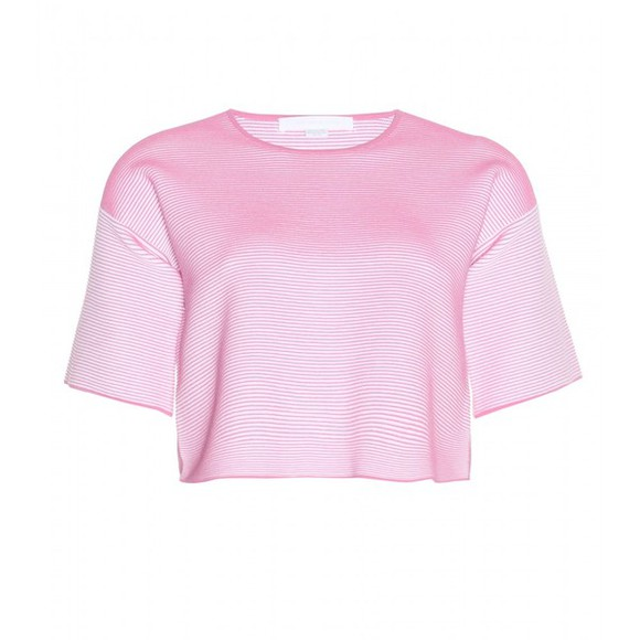 t-shirt alexander wang alexander wang ribbed stretch-jersey cropped t-shirt