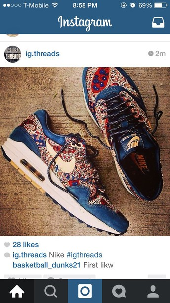 shoes air max pattern
