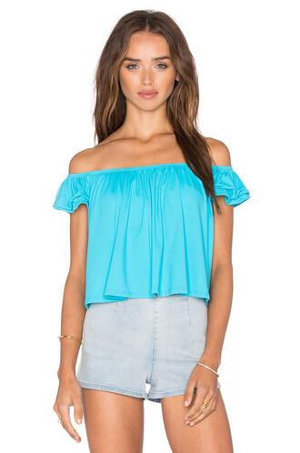top off the shoulder blue