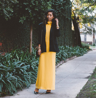 honey n silk blogger yellow dress