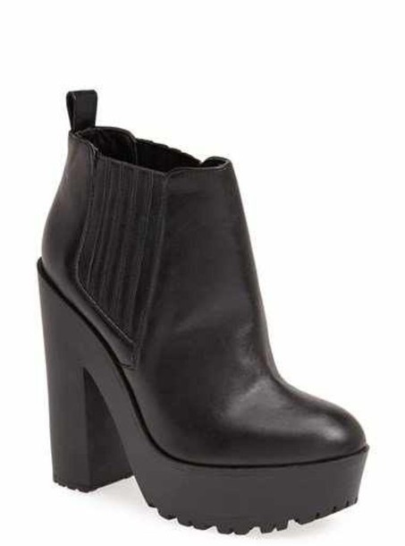 shoes platform booties