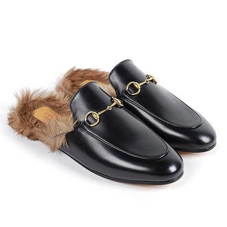 shoes fur slip on shoes loafers slip on loafers fur slipper fur slip on loafer gucci fluffy faux fur