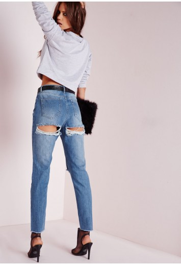 Back Ripped Jeans - Xtellar Jeans