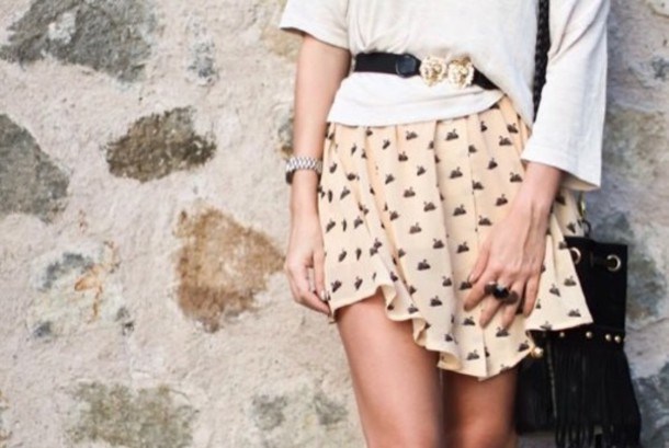 skirt pale peach clothes style