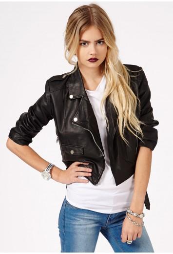 Laura Zip Detail Biker Jacket - Coats & Jackets - Missguided
