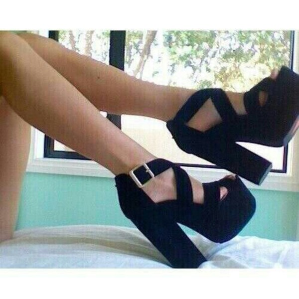 shoes shoes black girl heels wedges sexy shoes