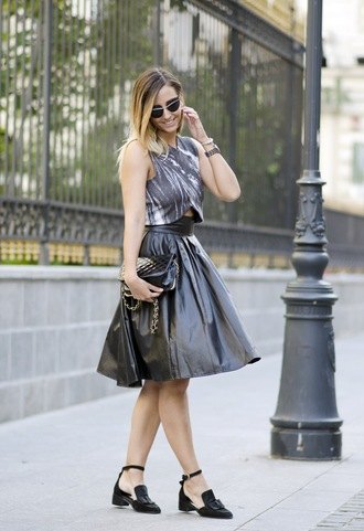 let's talk about fashion ! blogger top skirt shoes sunglasses jewels