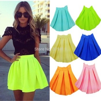 Hot Sale Fashion New 2014 Neon Skirts For Women High Waist Skirt Summer autumn flourescent Mini Skirts WTP0117(NO BELT)-in Skirts from Women's Clothing & Accessories on Aliexpress.com | Alibaba Group