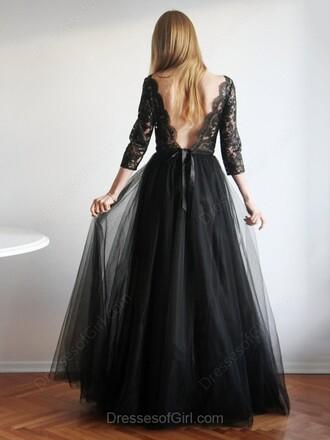 dress prom fashion elegant classy formal gown lace open back dressofgirl