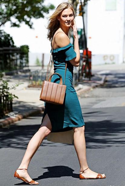 9ef33260375f dress reformation reformation dress blue dress teal off the shoulder off  the shoulder dress bag shoulder