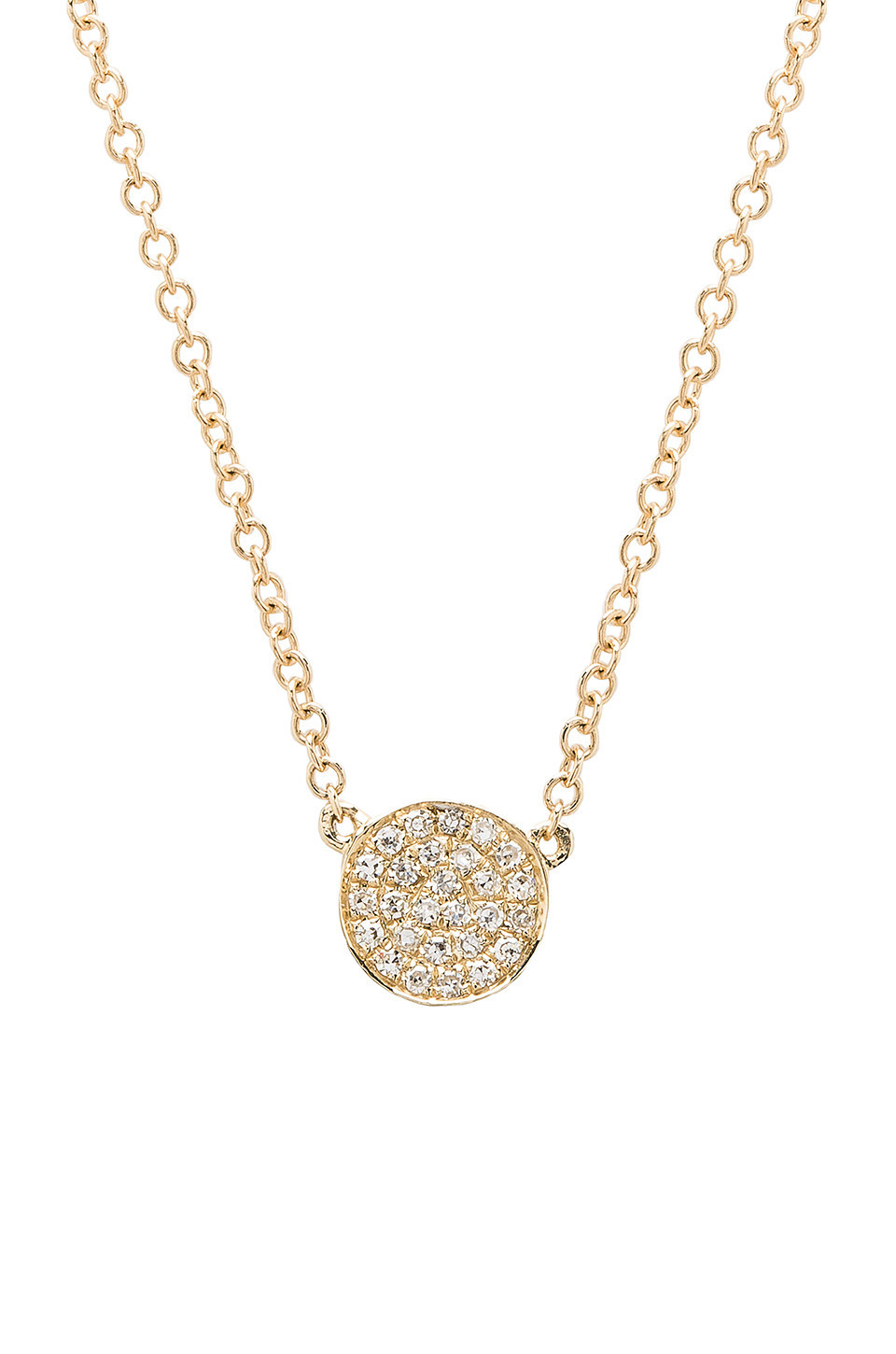 EF COLLECTION Mini Disc Necklace in gold / metallic