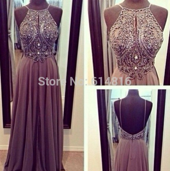 Aliexpress.com : Buy Sparkling Halter Off Shoulder Sleeveless A line Beaded Bodice Blush Chiffon Prom Dresses Backless from Reliable bead dress suppliers on Suzhou Babyonlinedress Co.,Ltd