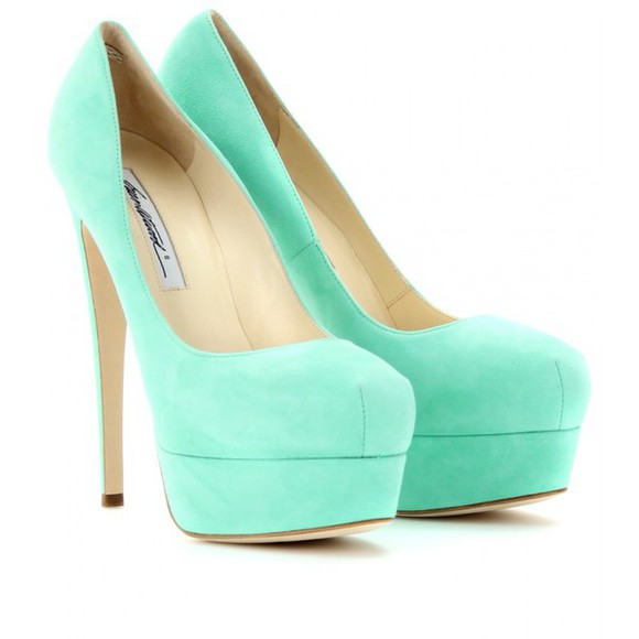 mint high heels heels