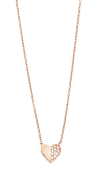 Ariel Gordon Jewelry Close To My Heart Necklace - Rose Gold/Clear