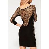 dress,lace,see through,black,long sleeves,sexy,party,midi dress,elegant,stylish,fashion,style,rose wholesale-jan