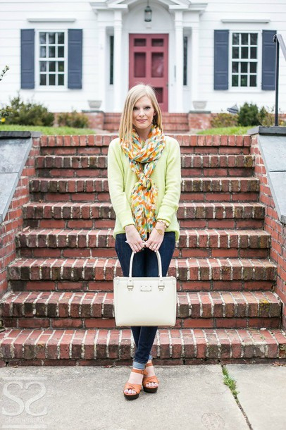 life with emily sweater scarf shoes bag