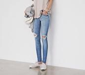 jeans,knee rip,ripped jeans,denim jean,blue jeans,skinny jeans,jacket