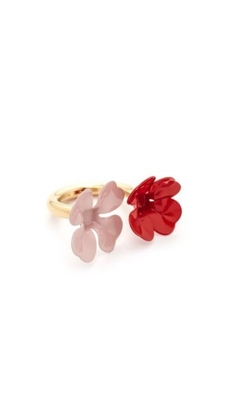 metal ring red jewels