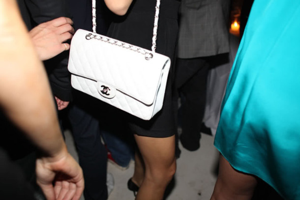 chanel white bag black bag pink bag