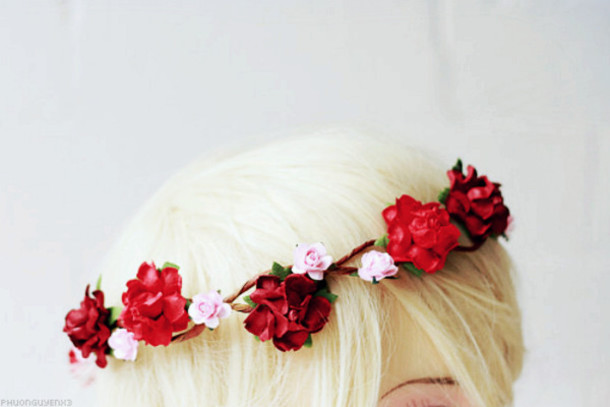 jewels flower headband headband spring flowers flower crown