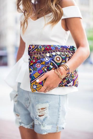bag ethnic colors