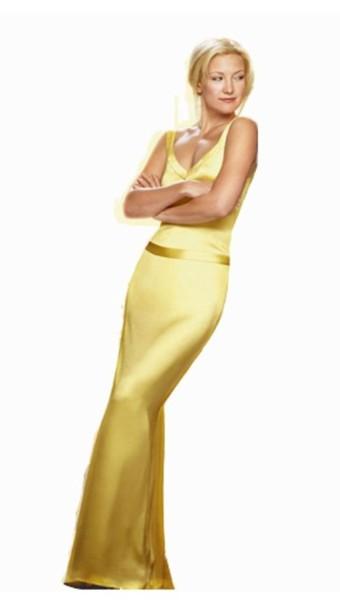 dress, kate hudson, silk dress, gold, gold dress, maxi dress, long ...