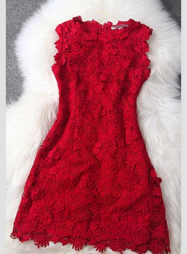 red dress lace dress lace style fashion