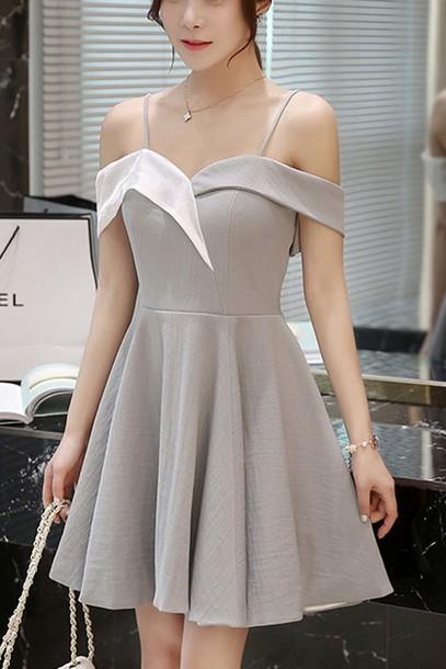 dress party dress pleated dress bare shoulder zipper back dress maykool