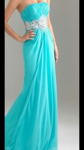 dress,long prom dress,sweetheart neckline,tiffany blue