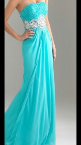 dress long prom dress sweetheart neckline tiffany blue