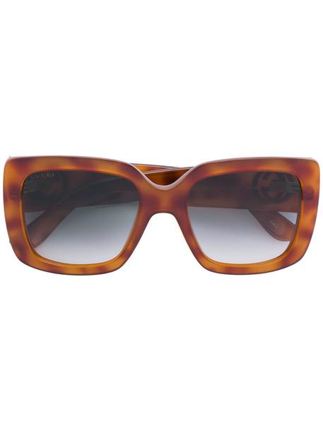 Gucci Eyewear women sunglasses brown
