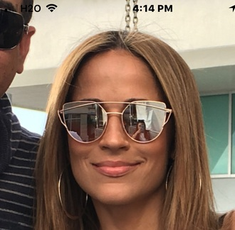 sunglasses gold framed jackie guerrido sunnies mirrored sunglasses accessories accessory jennifer lopez celebrity style celebrity
