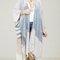 Stripe linen like kimono