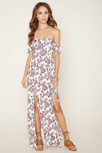 dress white floral dress floral maxi dress floral dress