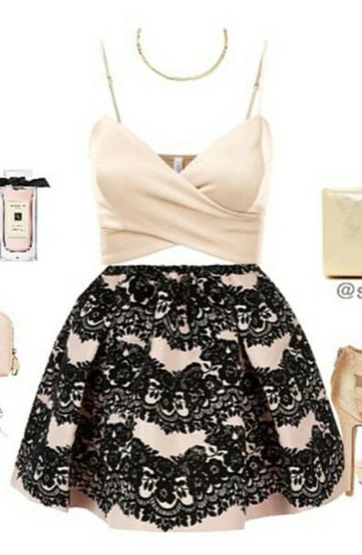 tank top top skirt outfit cute