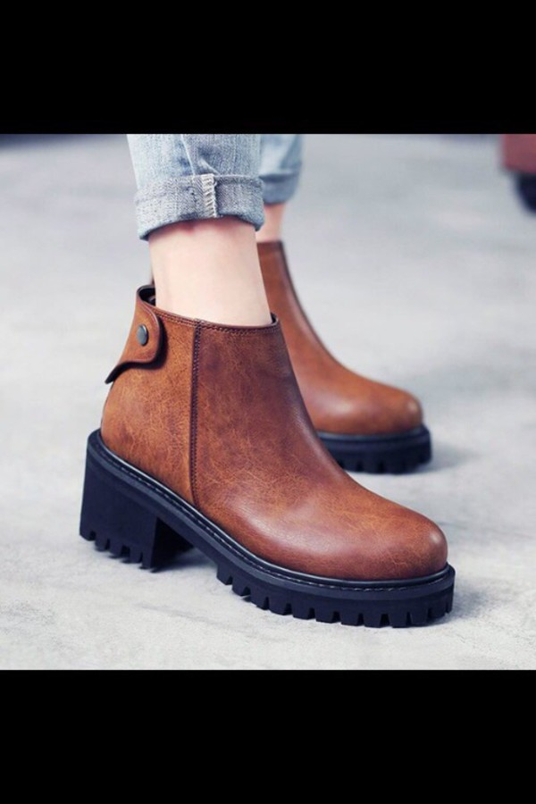Ankle Boots Heels Shoes